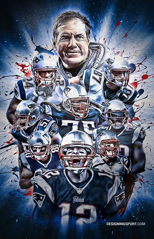 New England Patriots (2014); only thing wrong with this graphic is Belichek doesn't smile EVER