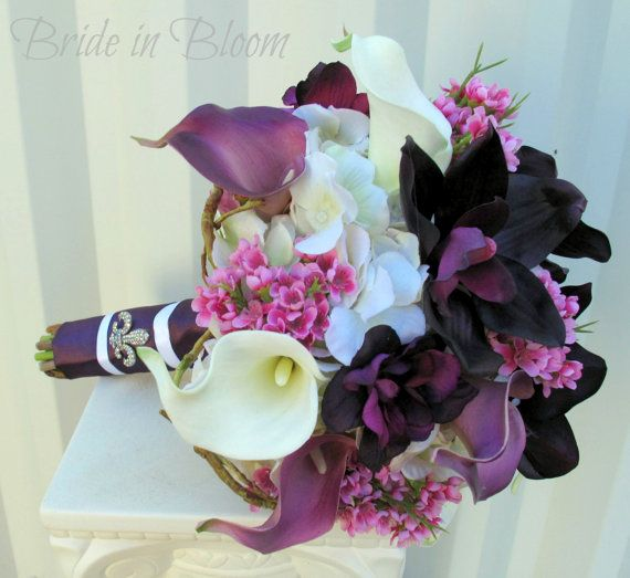Wedding bouquet  Bridal bouquet  Plum by BrideinBloomWeddings