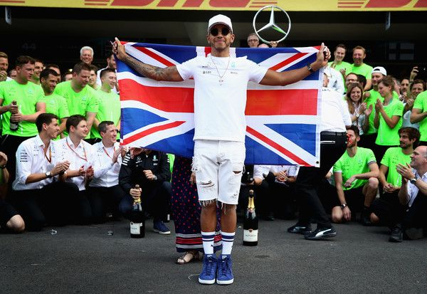 Lewis Hamilton Photos - Lewis Hamilton of Great Britain and Mercedes GP celebrates after winning his fourth F1 World Drivers Championship after the Formula One Grand Prix of Mexico at Autodromo Hermanos Rodriguez on October 29, 2017 in Mexico City, Mexico. - Lewis Hamilton Photos - 16 of 29345