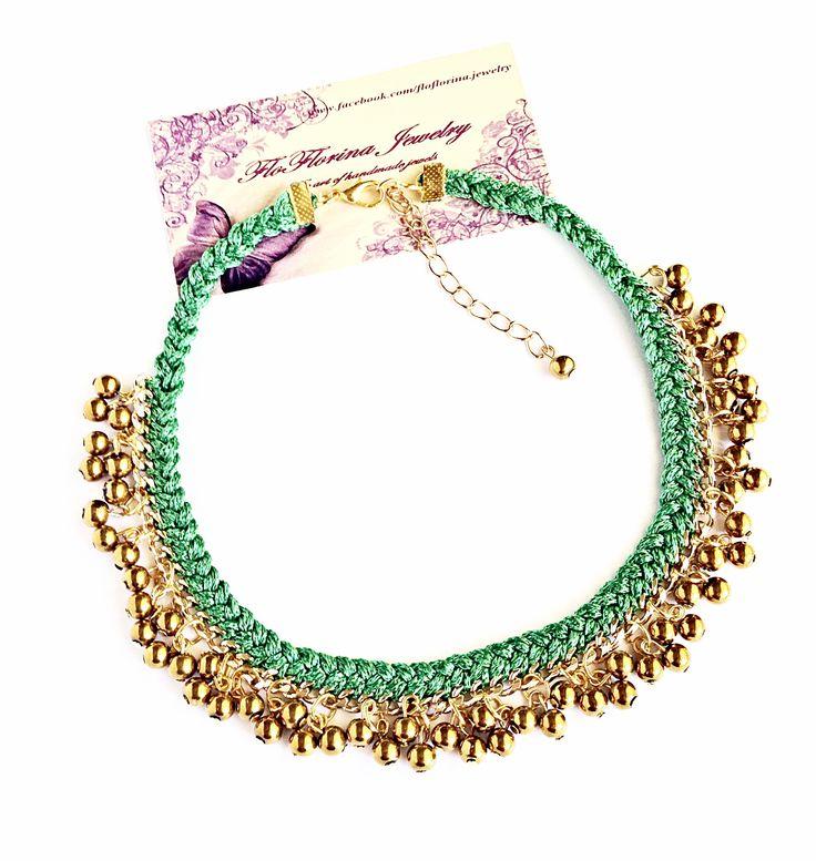 Statement necklace handmade by FloFlorina Jewelry ( https://www.facebook.com/floflorina.jewelry )