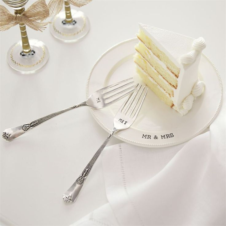 sample thank you letter for wedding shower gift%0A Let the happy couple go cake sampling with their very own personalized  plate and fork