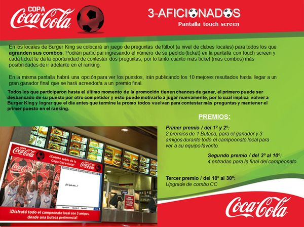 COCA-COLA (Regional) - Iniciativas Promo Burger King