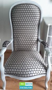 Restauration d'un fauteuil de type Voltaire