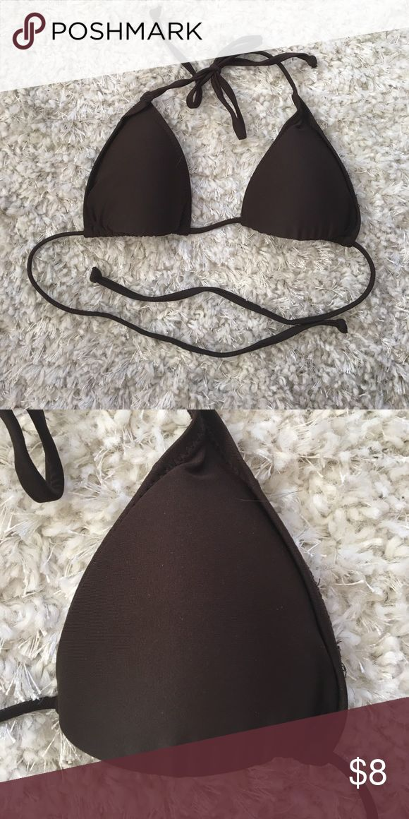 Brown triangle bikini top Urban outfitters styled brown triangle bikini top Urban Outfitters Swim Bikinis