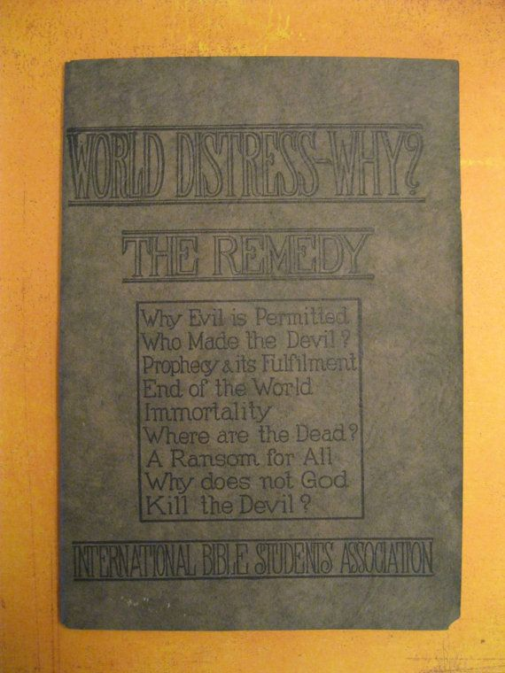 Rare Vintage Bible Tract  Early Jehovah's by TheBookVault on Etsy, $25.00