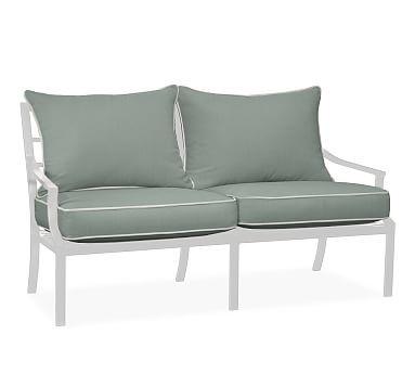 Faraday/Riviera Sofa Replacement Cushion Set, Sunbrella(R) Contrast Piped,  Spa · Outdoor SofasOutdoor LoungeReplacement ...