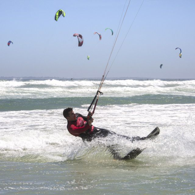 Approaching the world record in the Virgin Kitesurfing Armada South Africa