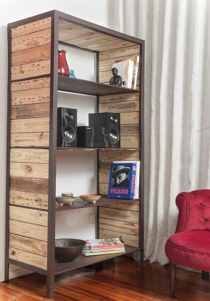 17 mejores ideas sobre mensulas para estantes en pinterest - Bibliotecas de madera ...