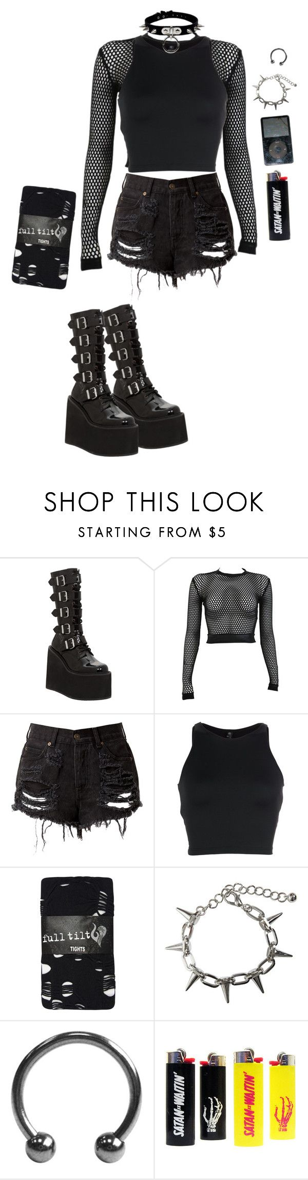 """""""Fuhre Mich"""" by sarabeanxo ❤ liked on Polyvore featuring Demonia, PAM, Onzie, Full Tilt and Bardot"""