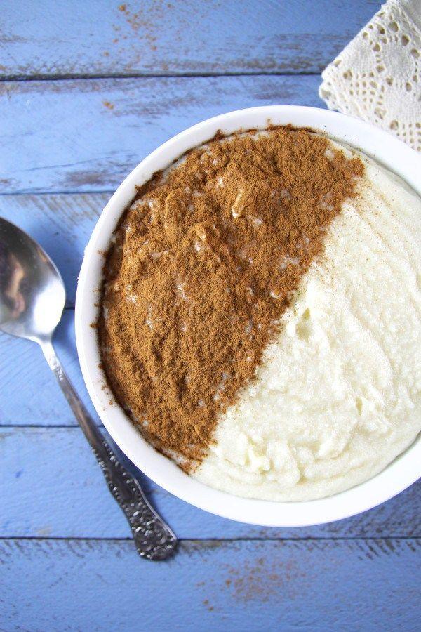 Sweet one bowl Cinnamon Rice Porridge for Breakfast