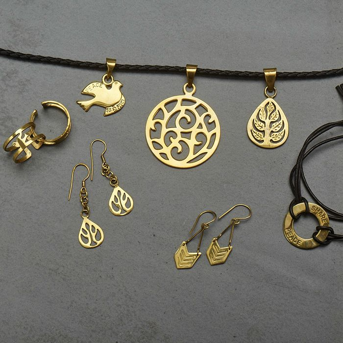 Recycled Bombshell Brass Jewellery