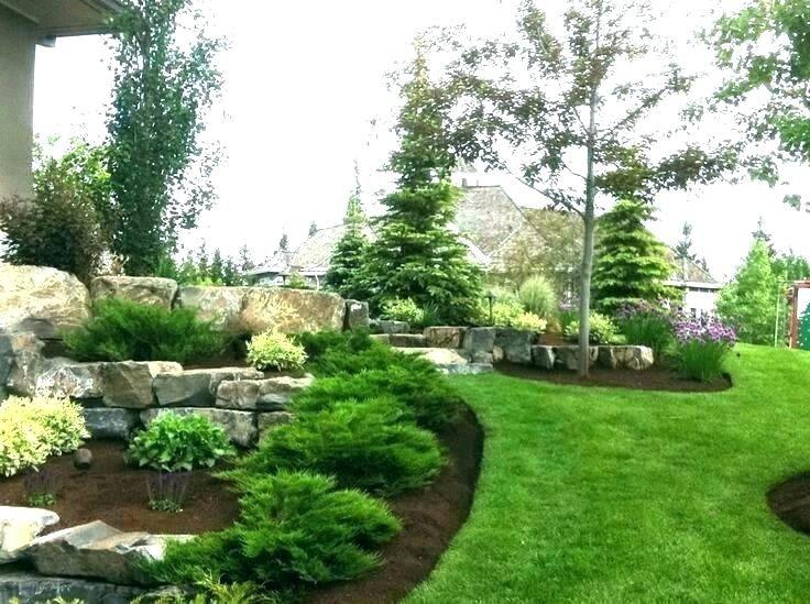 Landscape Berms And Mounds Landscape Berm Design Ideas Landscaping Berm Ideas Evergreen Tr Landscaping With Boulders Evergreen Landscape Front Yard Landscaping