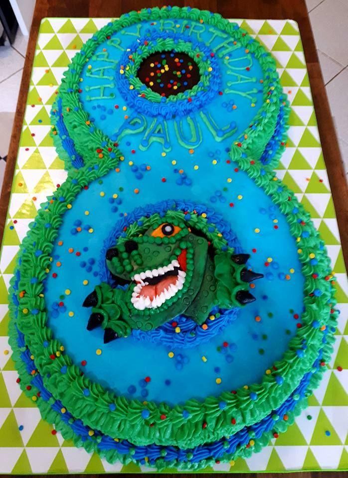 Dinosaur Birthday Cake For 8 Year Old Boy T Rex Dinosaur Birthday