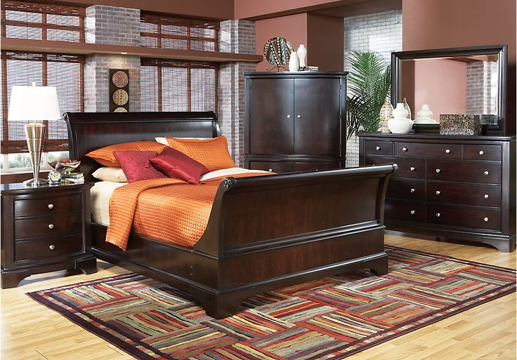 RTG: Whitmore Cherry Sleigh 6 Pc Queen Bedroom / Add 2 Night Stands & Chess [$3,000.00+Tax]