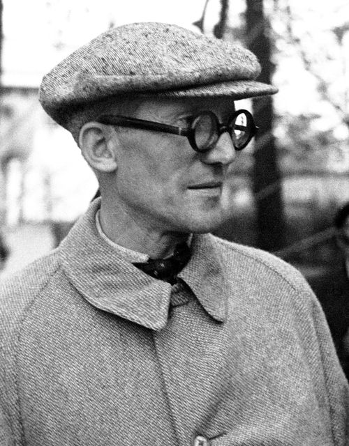 Le Corbusier | by Fred Stein, ca 1937  Groom your style.  #chamber of crafters #grooming #barbershop #barber #menscare #skin care #beauty #keep prime #crafter #inspiration #new products #japanese #made in Japan #vintage #retro #pin up #men fashion http://chamberofcrafters.com/