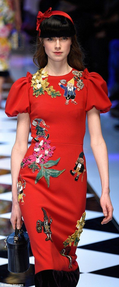 Snow White seemed to dominate much of the collection with dwarves embroidered on dresses...
