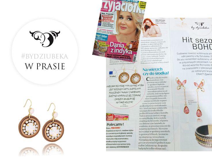 """By Dziubeka w magazynie """"Przyjaciółka""""  #bydziubeka #jewerly # #fashion #style #magazine #pressroom #press"""