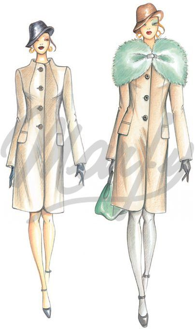 Model 2888 | Sewing Pattern Coats / Overcoats / Jackets