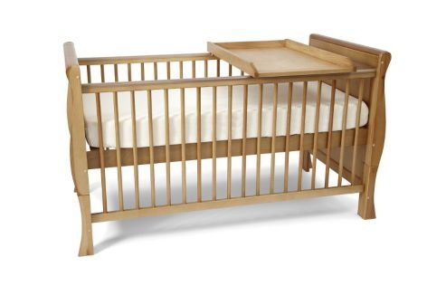 Cheap option from Tesco-- pine, so may be easier to paint. 3 positions for the base. Proportions as cot and as toddler bed are good.
