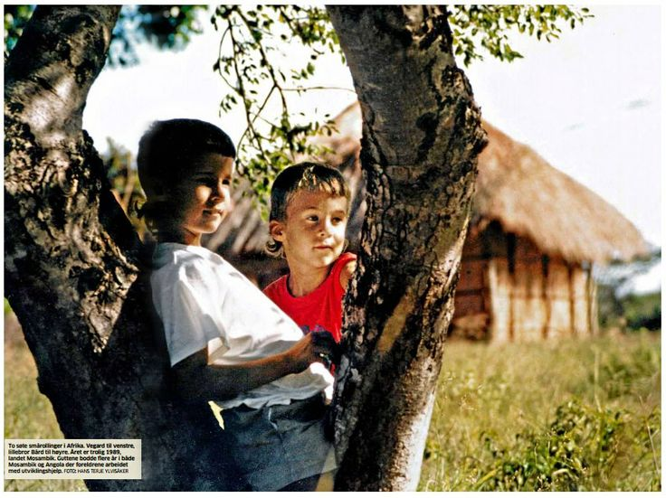 Ylvis - Here are the immensely cute Bård and Vegard Ylvisåker as young children in Africa
