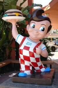 Bob's Big Boy // I worked with my  mom at the one on Mayfield in Ohio and we would get sent the costume and someone would have to wear it and wave at cars. I really wanted to do it but I was too tall to fit the costume. Pat Schwab