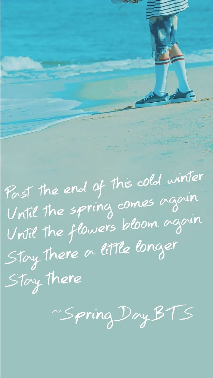 Bts Quote Wallpaper Spring Day Bts Quote Wallpape Bts Day Quote Spring Wallpaper Bts Lyric Bts Quotes Bts Lyrics Quotes