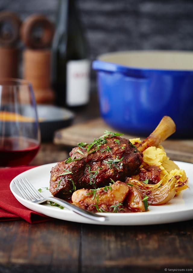 Turkish Paprika Lamb Shanks with Quinces & a Saffron Kumera Mash via @Tanya Zouev - The Cook Who Knew Nothing