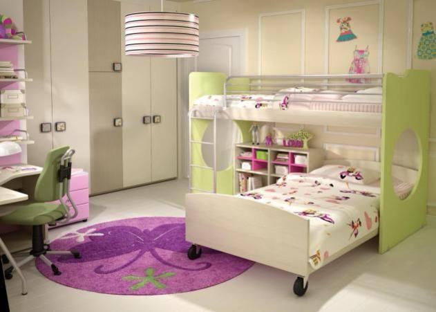 Decoracion de habitaciones infantiles para dos - Habitaciones infantiles ninas ...