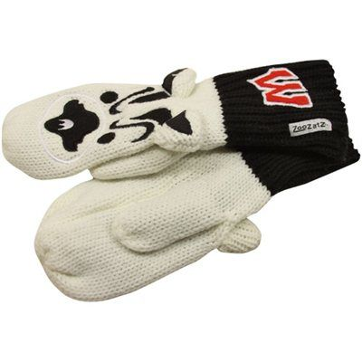 Wisconsin Badgers Texting Mittens - White