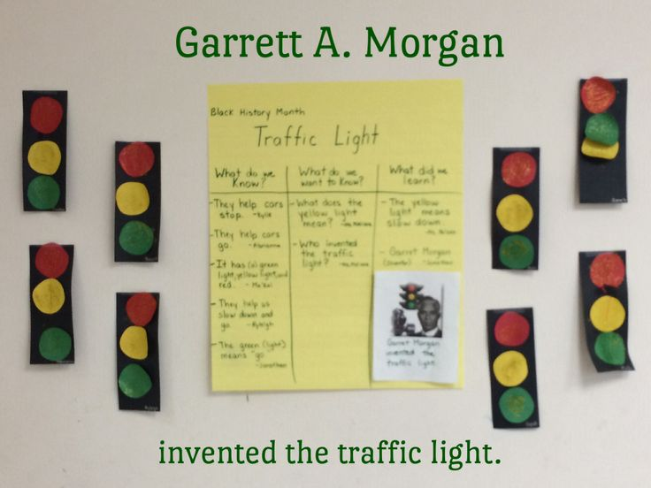 Garrett A. Morgan invented the traffic light. #GarrettMorgan #BlackHistoryMonth #PalmCoast #Preschool #VPK