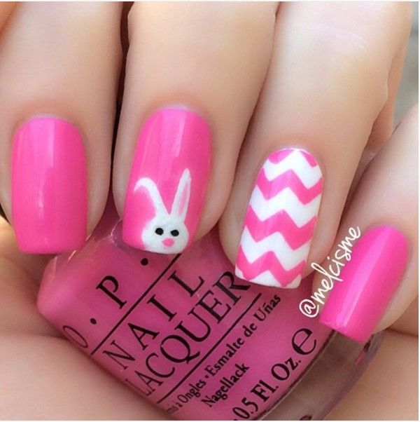 33 Cute Pink Nail Designs You Must See - The 25+ Best Bunny Nails Ideas On Pinterest Easter Nail Designs