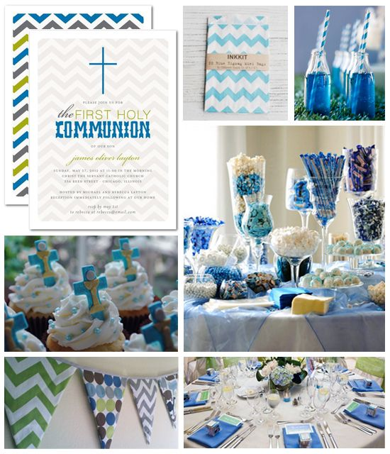 Boy First Holy Communion Party - fresh ideas and trendy colors
