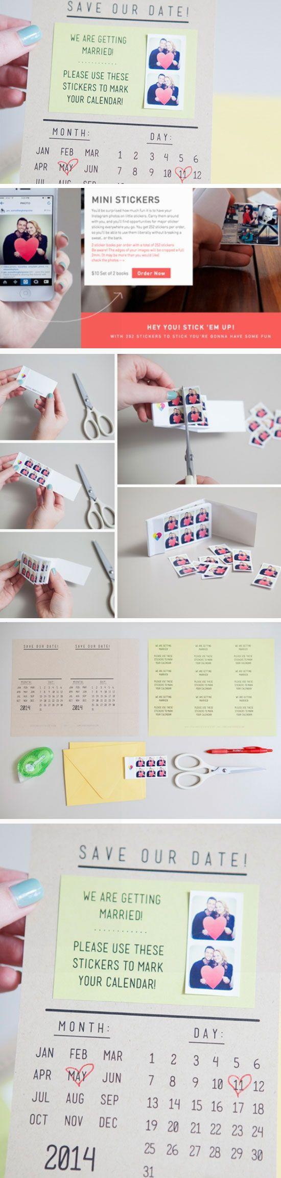 Instagram Save the Dates / http://www.himisspuff.com/diy-wedding-invitations/3/