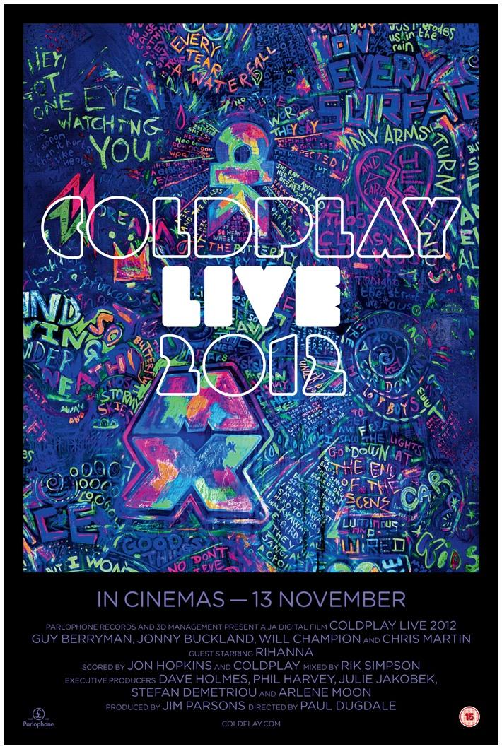 Coldplay: News - Live 2012 film Blu-Ray