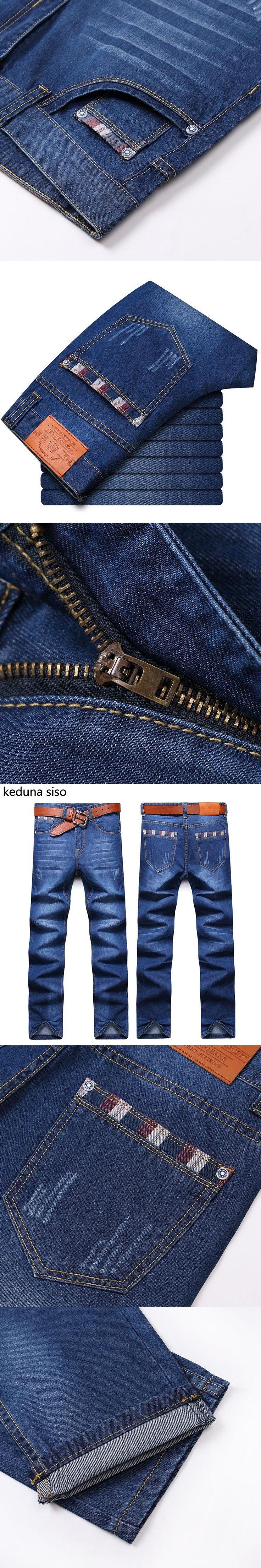 2016 Autumn Mens Biker Jeans Men homme Casual Denim Straight Design Blue Cheap Clothes China Brand Clothing Fog Jeans Men hombre