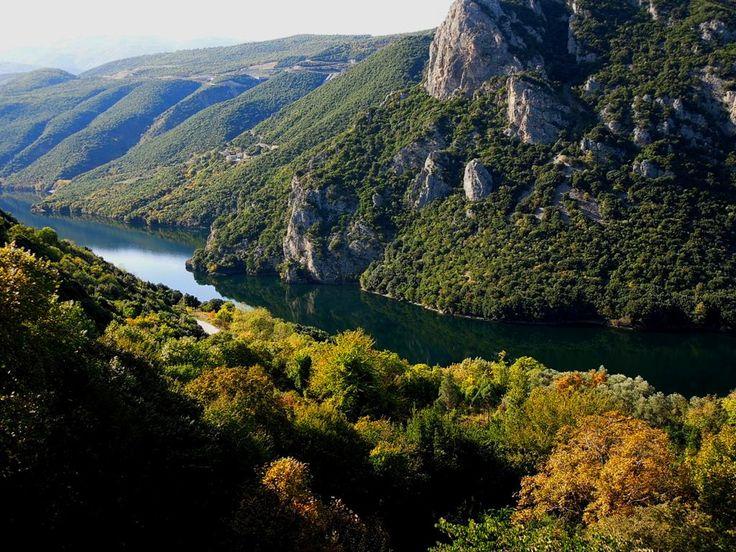 Imathia, Aliakmon river, view from the Monastery of St John the Baptist (Monastery of Timios Prodromos)