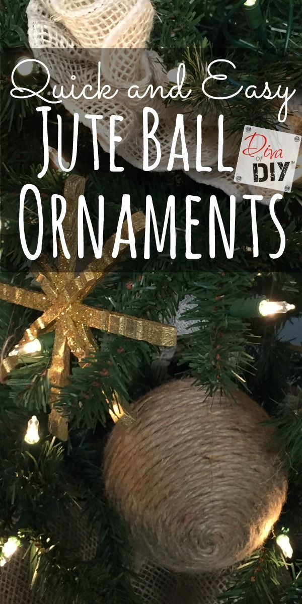 Jute crafts are perfect to add to your rustic Christmas decorations. These inexpensive and easy DIY jute ornaments are a great way to upcycle old ornaments!
