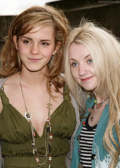 Emma Watson & Evanna Lynch of Harry Potter