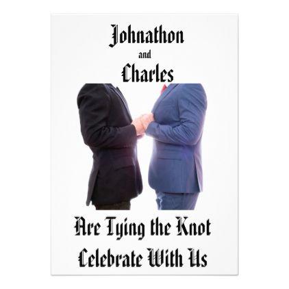 Tying the Knot Invitation - wedding invitations diy cyo special idea personalize card