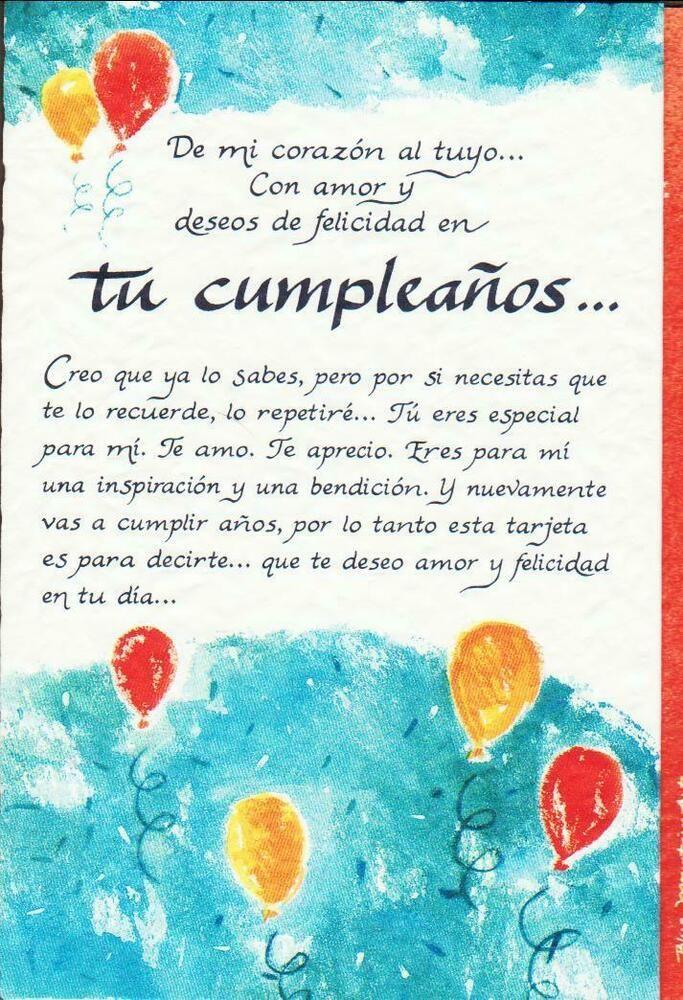Valentine Card Design Happy Birthday Card In Spanish