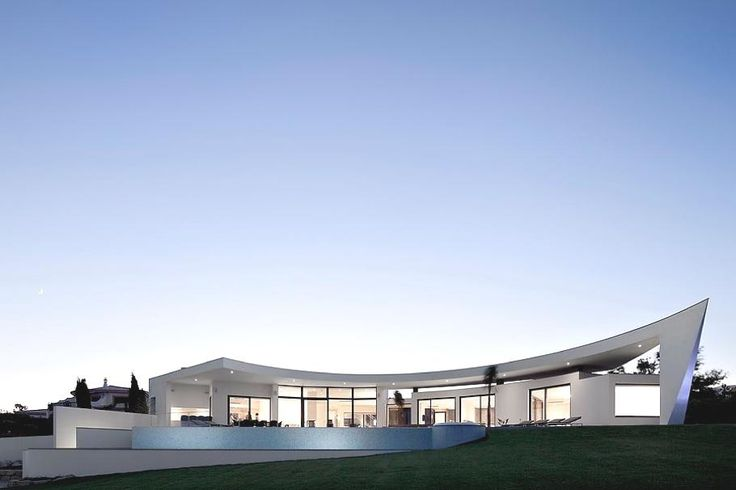 Home design contemporary curved house architecture flat for Curved roof house designs