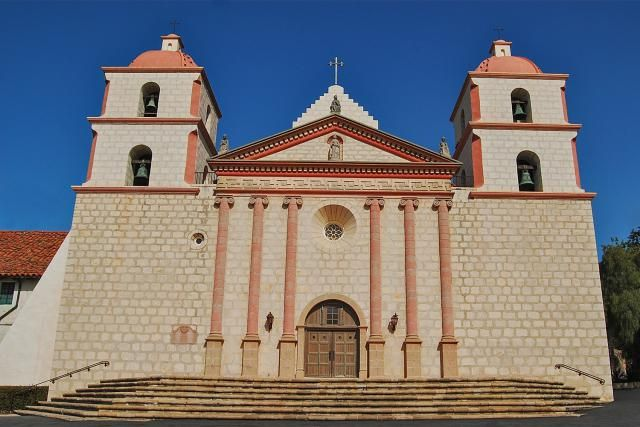 Mission Santa Barbara - history, historical and current photographs, resources for Mission Santa Barbara