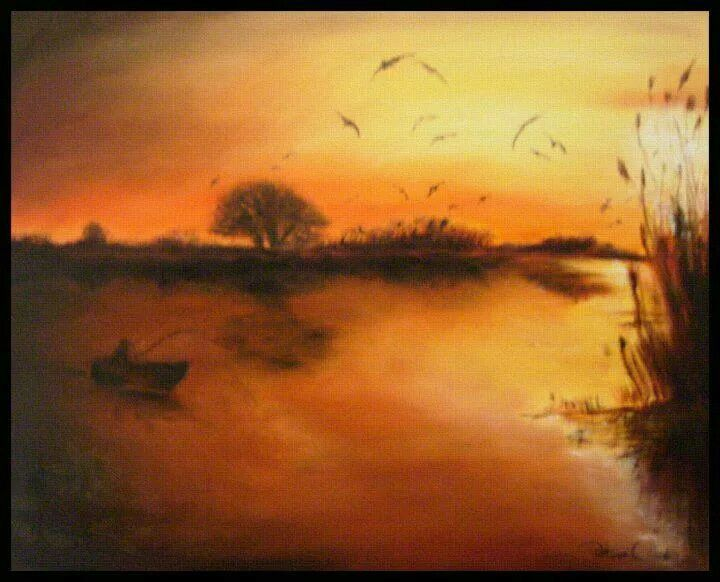 Danube Delta - oil-Petra O.