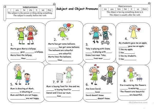 Subject And Object Pronouns Subject And Object Pronouns Personal Pronouns Object Pronouns Pronoun worksheets for 2nd graders