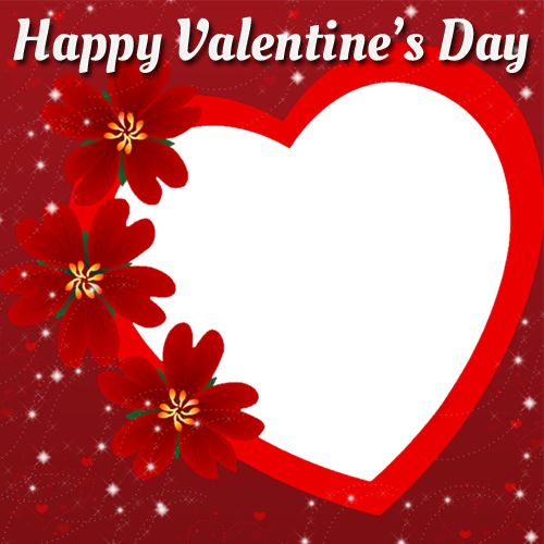 happy valentines day photo frame with custom photo generatorbeautiful valentine heart frame with your