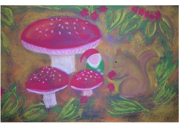 Mushroom gnome first grade
