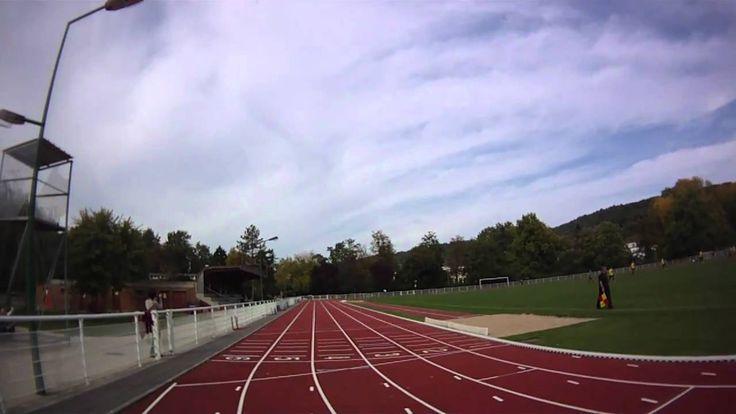 Jumping Stilts - 400m run in 1 min 02 sec
