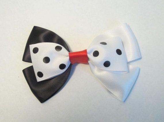 Cruella De Vil Hair Bow 101 Dalmatians Disney by bulldogsenior08, $8.50
