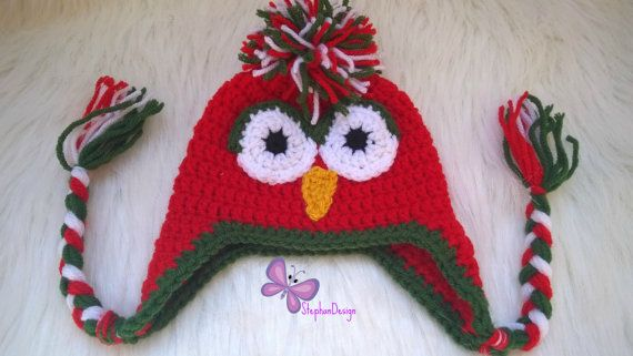 Christmas Hat Newborn crochet owl hat baby owl costume Newborn to adult owl hat newborn Christmas costume newborn Halloween costume
