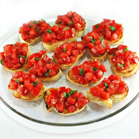 : Tomato Crostini: Appetizers Snacks, Bread, Fresh Tomatoes, Tomato ...